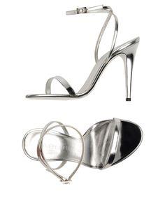 GABRIELLE'S AMAZING FANTASY CLOSET   Tamara Mellon   Silver Sandals  