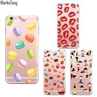 Macaroons Lips Cake Yoga Pattern Phone Case For iPhone 6 6S 5 5S SE 7 7plus…