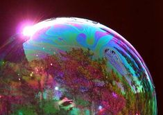 reflection in bubble