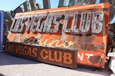 Vintage neon of the Las_Vegas_Club, Las Vegas Love, Neon Museum, Vintage Signs, Gadgets, Posters, Club, Baby, Clothes, Outfits