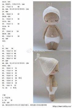 Hoki Crochet Pattern by Amour Fou Crochet Teddy Bear Pattern, Crochet Dolls Free Patterns, Crochet Rabbit, Crochet Doll Pattern, Amigurumi Patterns, Amigurumi Doll, Doll Patterns, Crochet Animals, Crochet Toys