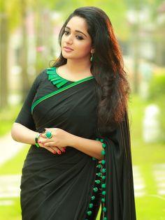 Kavya Madhavan Hot In Saree Saree Blouse Patterns, Saree Blouse Designs, Kavya Madhavan Saree, Fancy Blouse Designs, Saree Shopping, Saree Models, Elegant Saree, Most Beautiful Indian Actress, Beautiful Ladies