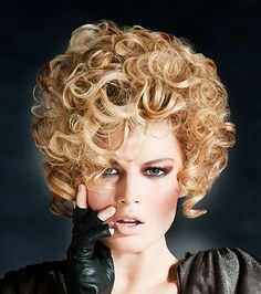 medium blonde curly coloured Rock-Chick Womens hairstyles for women