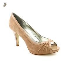 Style & Co Spicey Womens Size 8.5 Beige Suede Open Toe Heels Shoes New/Display - Style co pumps for women (*Amazon Partner-Link)