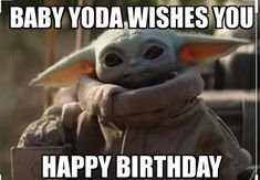 happy birthday wishes for him & happy birthday wishes _ happy birthday wishes for a friend _ ha Yoda Happy Birthday, Happy Birthday Wishes For A Friend, Funny Happy Birthday Wishes, Birthday Memes, Birthday Greetings, Birthday Ideas, Birthday Sayings, Yoda Funny, Yoda Meme