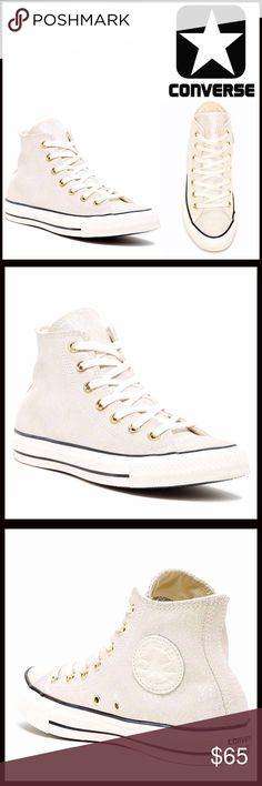 ⭐️⭐️ CONVERSE SNEAKERS Stylish Classic High Top CONVERSE SNEAKERS Stylish Classic High Top  SIZING: UNISEX  COLOR: Off White-Canvas  ABOUT THIS ITEM * Round toe * Lace-up closure * Solid color upper * Black stripe outsole detail  MATERIAL Leather upper, rubber sole  ❌NO TRADES❌ ✅BUNDLE DISCOUNTS✅ OFFERS CONSIDERED (Via the offer button only)   SEARCH WORDS #  All Star Hi Top Seasonal Chuck Taylor wedge Converse Shoes Sneakers
