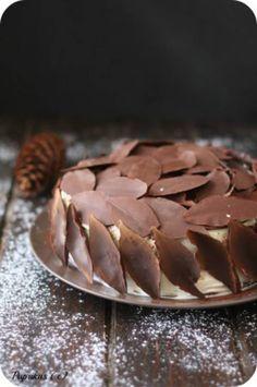 Décor en chocolat feuille