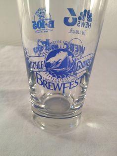 Gitchee Gumee, Brewfest, beer glass, Superior, Wisconsin, 4.75in