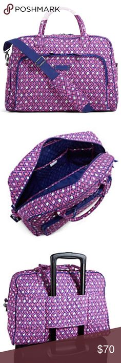 9ed9d86a2 Vera Bradley Weekender Katalina Pink Diamonds. Coordinates with the coin  purse and luggage tag in