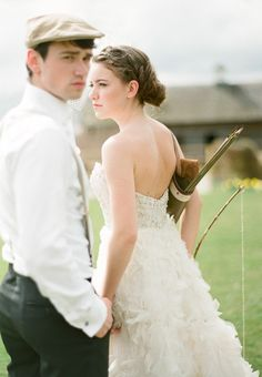 Hunger Games Wedding Shoot