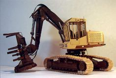 Timberking TK923 Feller-Buncher Logging Equipment, Heavy Equipment, Wooden Toy Trucks, Wooden Toys, Tractors, Table Lamp, Woodworking, Model Car, Scale Models