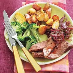 Surprise your family with this tasty Flank Steak with Red Onions recipe that looks fancy, but takes little time to prepare. The steak is also good cold; put leftovers over a salad the next day, or in a sandwich.