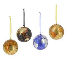 Coffret 4 globes à suspendre - Place à une décoration festive ! - 14,95 €