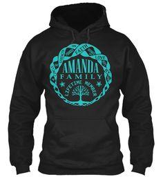 Amanda Family Shirt Name Black Sweatshirt Front