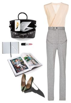 """"""" Work"""" by jloveespinal ❤ liked on Polyvore featuring Marc Jacobs, Isabel Marant, Garance Doré, Smythson and MAC Cosmetics"""