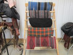 ideas for organizing a tack room | But back to organizing. I thought I would try and make a rack for the ...