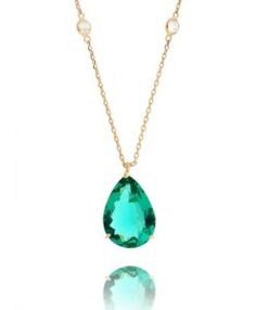 tiffany esmeralda com banho de ouro e ponto de luz semi joias clássicas