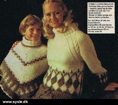 05-80 Strik - Poncho str. 4-14år/dametrøje (fil)