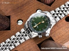 20mm ANGUS Jubilee 316L Stainless Steel Watch Bracelet for Seiko Alpinist SARB017, Brushed, Button Chamfer