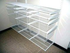 Closet Shelves With Baskets Storage For Wire Shelving Closets