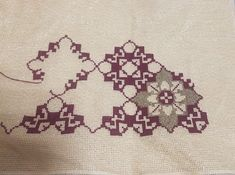 Tiny Cross Stitch, Cross Stitch Embroidery, Cross Stitch Patterns, Palestinian Embroidery, Diy And Crafts, Kids Rugs, Crochet, Fabric, Fanfiction