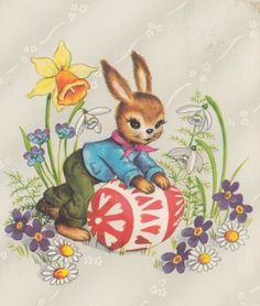 Easter Art, Easter Bunny, Easter Pictures, Peter Cottontail, Vintage Easter, Early Spring, Tinkerbell, Biscuit, Poster