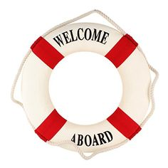 UniqueBella Foam Welcome Aboard Nautical Decor Lifebuoy Ring Wall Hanging Home Decoration Red Band Diameter 17.5 inches(45cm) UniqueBella http://www.amazon.com/dp/B00PQ66HQO/ref=cm_sw_r_pi_dp_GJ.twb184FRYH