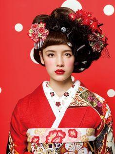 Wedding Corset, Wedding Kimono, Kimono Japan, Japanese Kimono, Japanese Outfits, Japanese Fashion, Kimono Fashion, Fashion Walk, Modern Kimono
