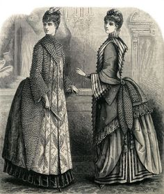 Theatre coat and ball gown, 1885
