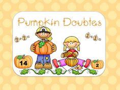 The Connected Teacher : Pumpkin Doubles Facts {Freebie} Math Doubles, Doubles Facts, Daily 5 Math, Fall Games, Halloween Math, Halloween Crafts, Thanksgiving Math, Classroom Freebies, Classroom Ideas