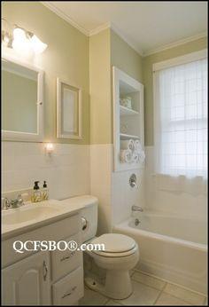 built in shelves for bathroom
