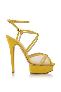 fall 2012, Charlotte Olympia, shoes, sandals, high heels, platforms, yellow