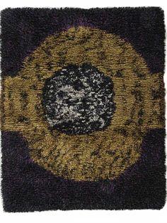 Liisa Ruusuvaara:  Menninkäinen Rya Rug, Wool Rug, Textiles, Textile Art, Floor Rugs, Rugs On Carpet, Scandinavian, Weaving, Tapestry