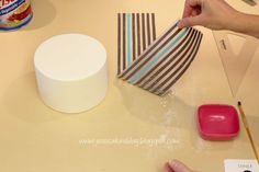 Jessicakes: How to make a horizontal stripe cake