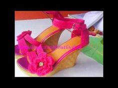 Sandalia tejida modelo ninel - YouTube Crochet Sandals, Crochet Shoes, Crochet Slippers, How To Make Shoes, Crochet Videos, Crochet Patterns, Lily, Knitting, Shoes