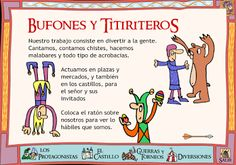 Jesters - this is in Spanish: need it translated, someone. Medieval World, Medieval Knight, Moda Medieval, Man Of La Mancha, Albert Schweitzer, Medieval Party, Ap Spanish, Room Themes, Middle Ages