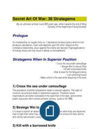 Secret Art of War - 36 Stratagems  https://www.facebook.com/Qi-Men-Dun-Jia-with-Patricia-Lee-Pamila-Caparelli-1261346517212298/
