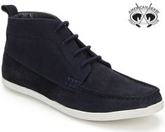 Boots are for real men. Get some on your feet and watch your radiance sweep through the crowd.  The navy blue colour of these mid-ankle boots allows you to wear these shoes with jeans, chinos, cords and even shorts.  The shoes have a suede upper for durability, comfort and the best casual look. They are lightweight with cushioned soles that allow you to wear them anywhere for long periods.