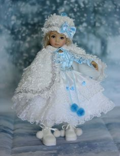 """SOLD """"Princess Snowflake"""" Holiday Dress, Outfit for 13"""" Dianna Effner Little Darling #LuminariaDesigns"""