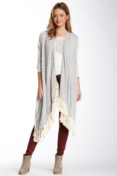 Ryleigh Mixed Media Cardigan by Lucky Brand on @nordstrom_rack
