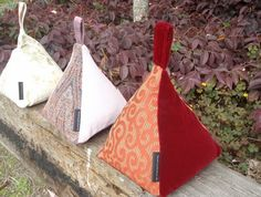 Fabric Door Stops - Pyramid.  Need 2 of these in the bedroom!