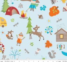 Crafters Vision - Riley Blake - Fox Trails - Blue Main Cotton Fabric, $8.18 (http://www.craftersvision.com/riley-blake-fox-trails-blue-main-cotton-fabric/)