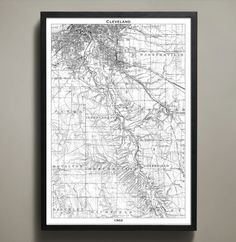 Map Print, CLEVELAND - Map Prints by GeoArtShed  - 1