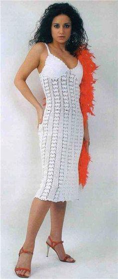 fe3b39750b White Strappy Summer Dress free crochet graph pattern  #crochetdressesforwomen