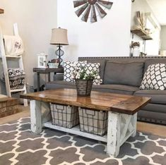 Home Design Ideas: Home Decorating Ideas Farmhouse Home Decorating Ideas Farmhouse 44 Beautiful Modern Farmhouse Living Room Decor Ideas Modern Farmhouse Living Room Decor, Rustic Farmhouse, Farmhouse Kitchens, Farmhouse Interior, Rustic Table, Rustic Decor, Farmhouse Ideas, Bedroom Rustic, Rustic Cottage