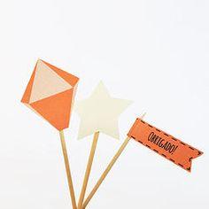 Topper para docinhos e enfeites - Festa Junina Em www.lojadanuvem.com