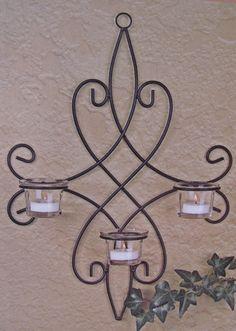 4 Piece Decorative Metal Wall Sconce Set