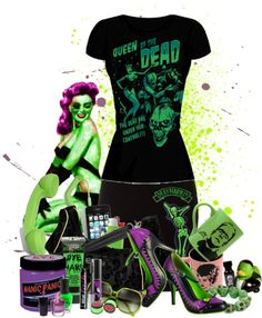 """Psychobilly an Zombie girls"" by rorie-burke on Polyvore"