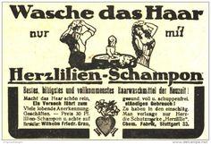 Original-Werbung/ Anzeige 1918 - HERZLILIEN SCHAMPON / CHEMISCHE FABRIK GRAU STUTTGART - ca. 80 x 55 mm