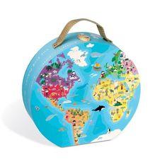 Cute omkeerpuzzel aarde speelgoed en knuffels